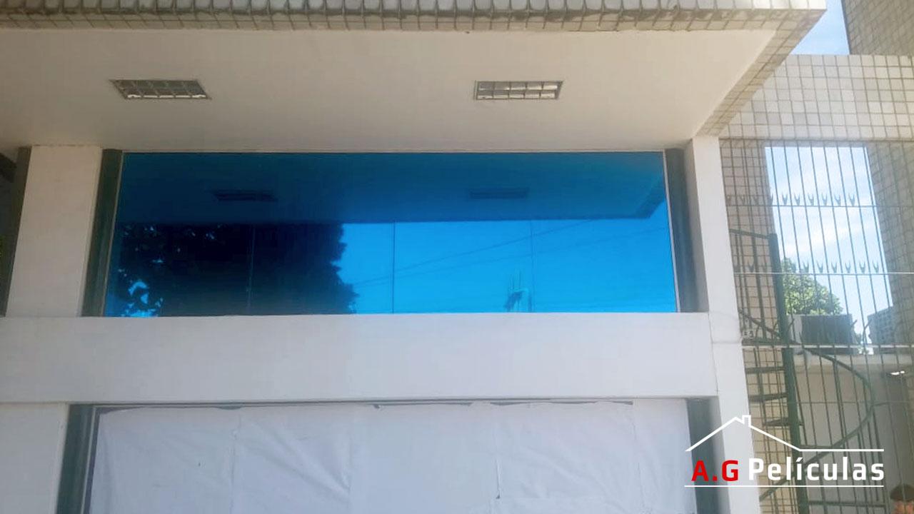 Película Fumê Espelhada Azul